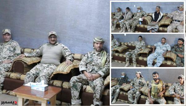 صور| قائد المقاومة الوطنية يرأس اجتماعا لقادة ألوية حراس الجمهورية