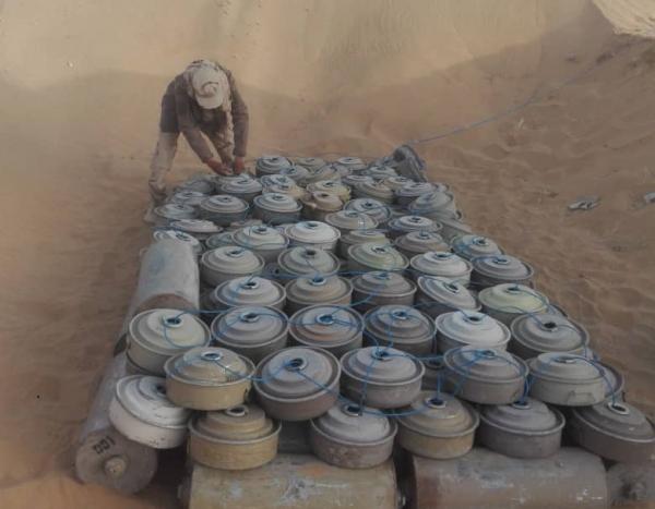 إتلاف آلاف الألغام والمتفجرات الحوثية في الجوف