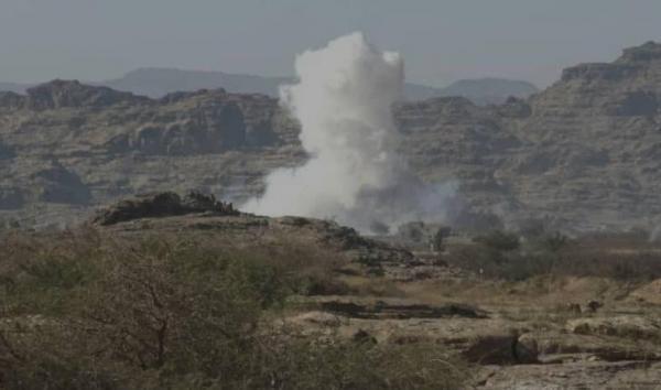 ضربات جوية وقصف مدفعي تكبد الحوثيين خسائر فادحة شمالي صعدة