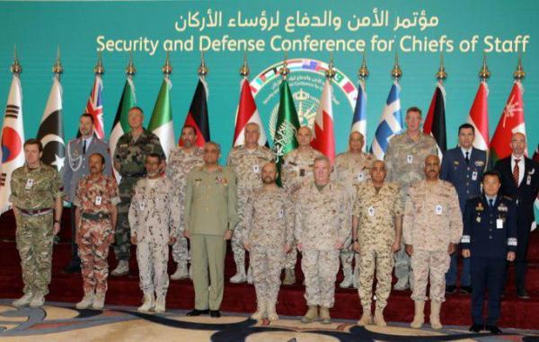 رؤساء أركان 18 دولة يناقشون في الرياض الأعمال العدائية الإيرانية بالمنطقة